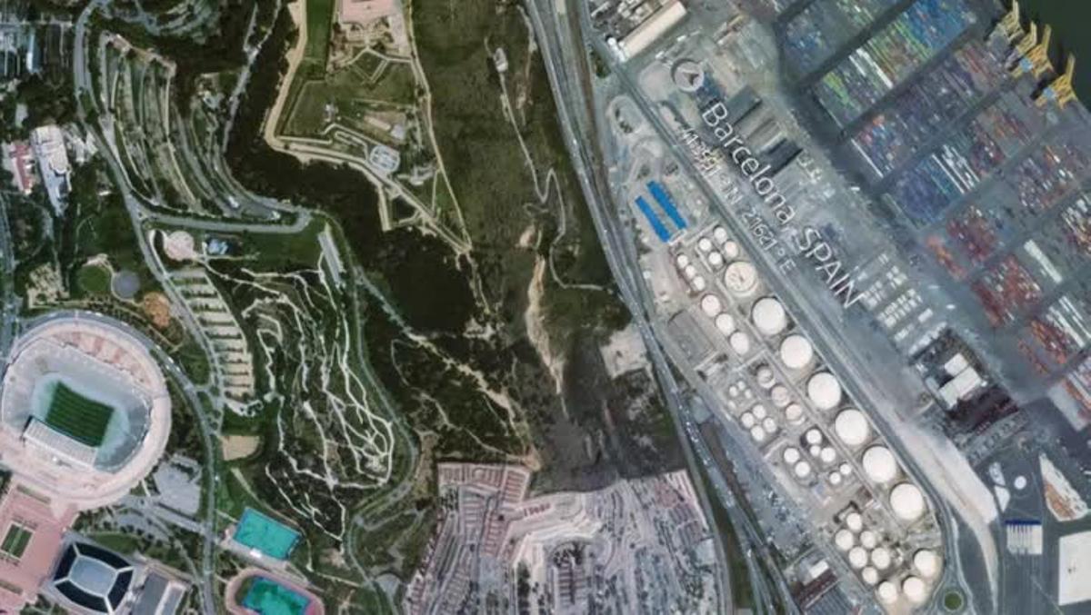Video de la actividad en Montjuïc captado desde la Estación Espacial Internacional.