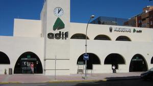 La estación de tren de Algeciras, Cádiz.