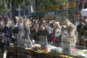 Imagen del día de Sant Jordi en Barcelona.