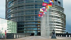 Exterior del Parlamento Europeo en Estrasburgo.