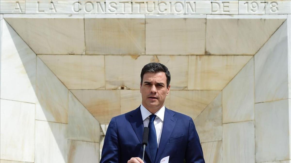 Pedro Sánchez, este jueves en Madrid.