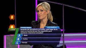 Luján Argüelles en el concurso 'Divididos'.