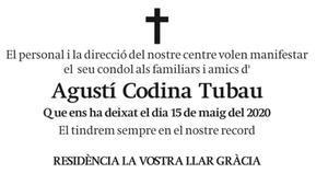 Agustí Codina Tubau