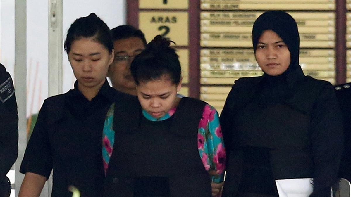 Les acusades de la mort de Kim Jong-nam tenien rastres de verí a la roba