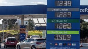 Una gasolinera en Palma de Mallorca.