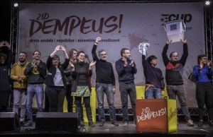 Acto de campaña de la CUP en diciembre del 2017, con motivo de las elecciones del 21-D.