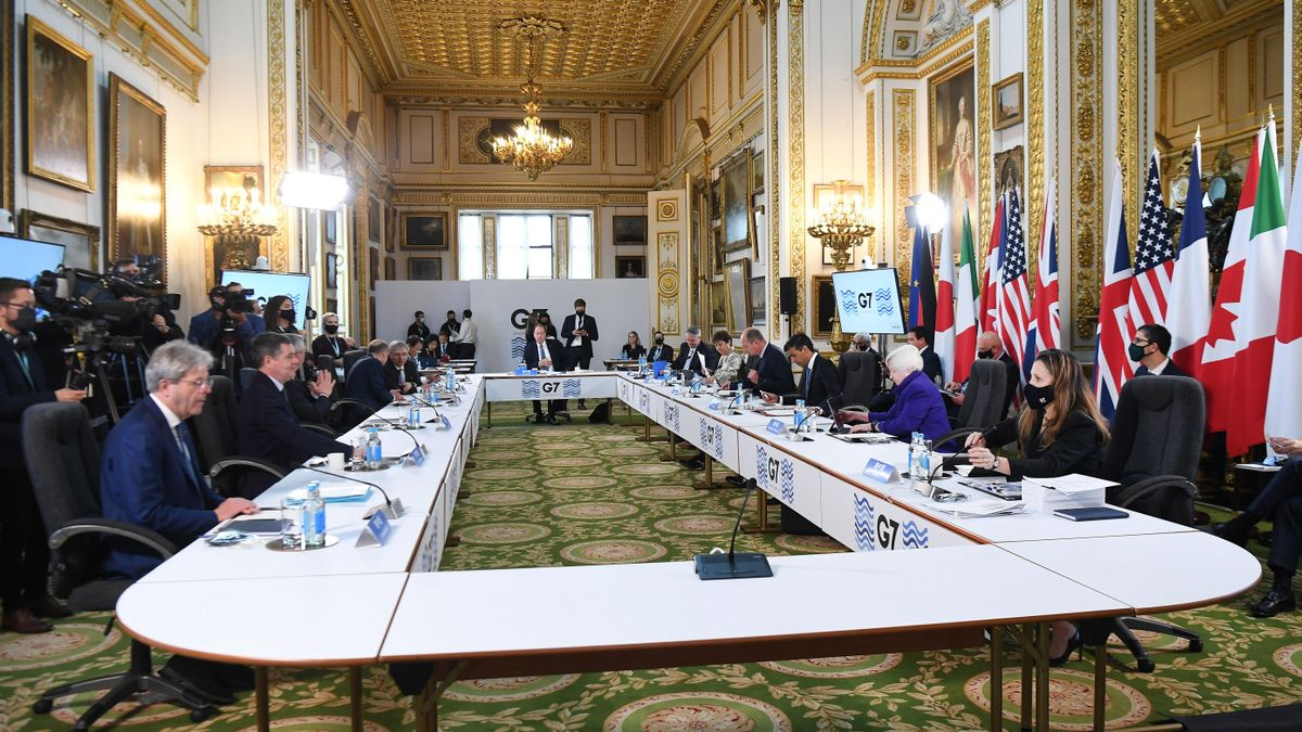 Reunión de los ministros de Finanzas del G-7 en Londres.