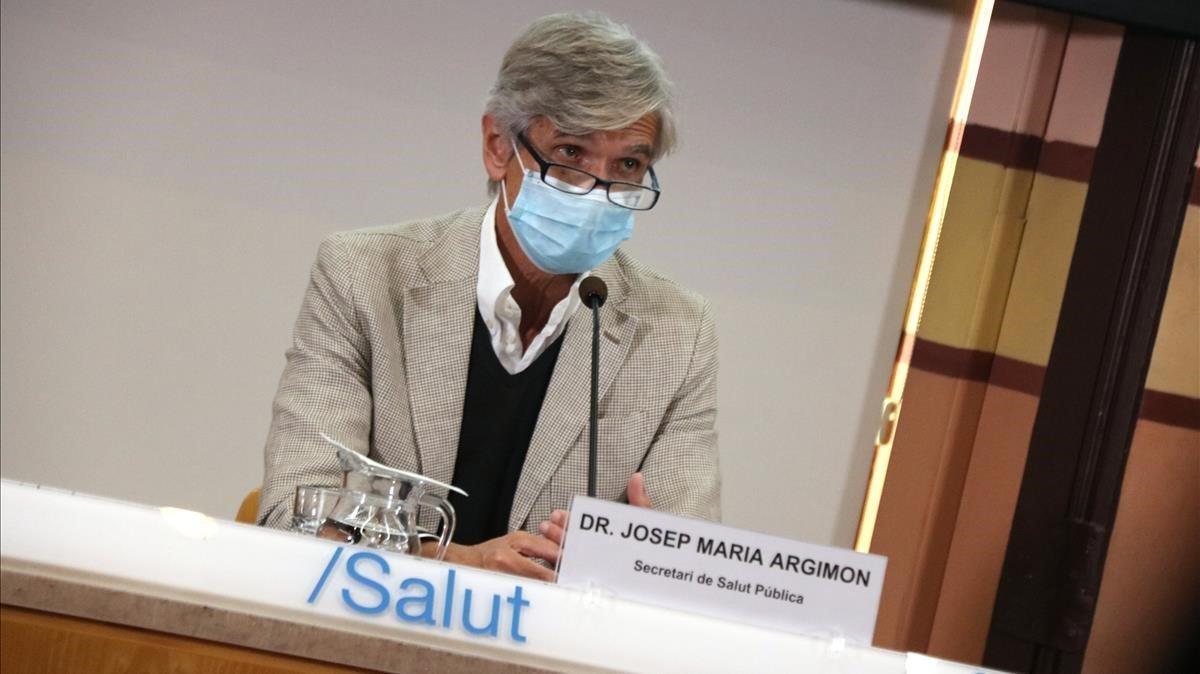 El secretario de Salut Pública y gerente del Institut Català de la Salut (ICS), Josep Maria Argimon.