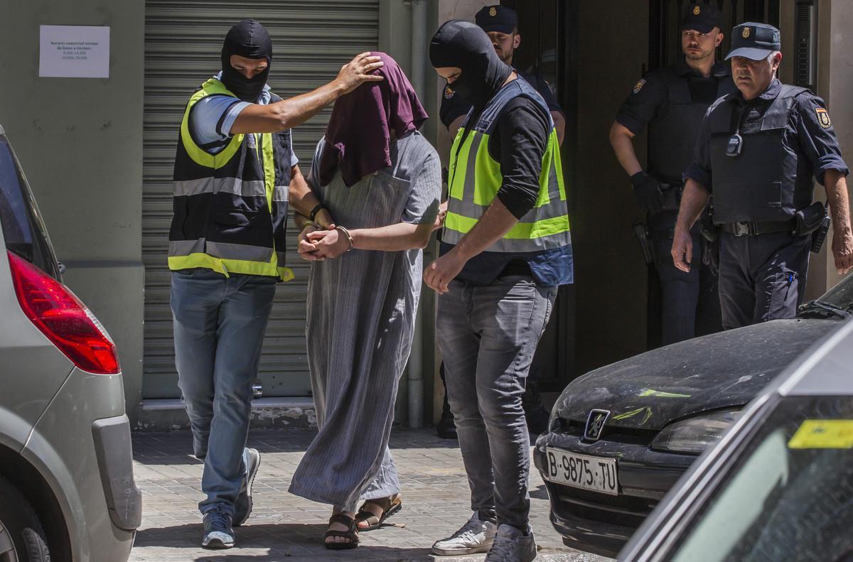 Detención en Valencia en junio del 2016de un presunto yihadista.