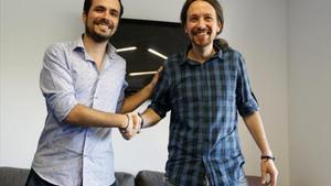 La nueva izquierda 8Garzón e Iglesias, el pasado junio, en Madrid.