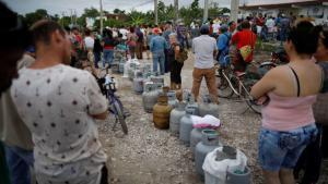 Desabasto de gas LP en Cuba.