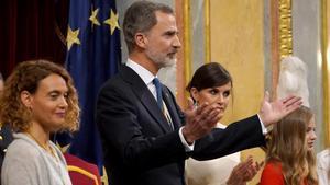 Felipe VI, en la inauguración de la XIV legislatura: España debe ser de todos y para todos.