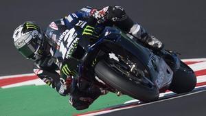 El catalán Maverick Viñales (Yamaha) volvió a ser el mejor en el test de hoy en Misano.