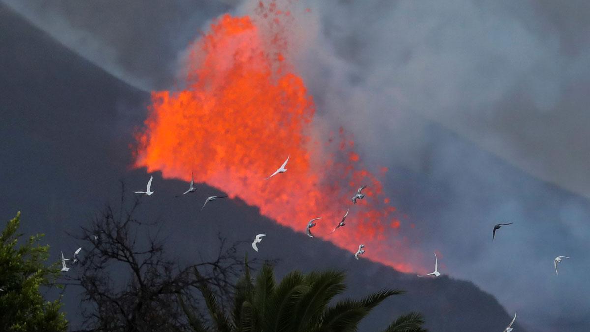 El volcán de La Palma, en El Paso.