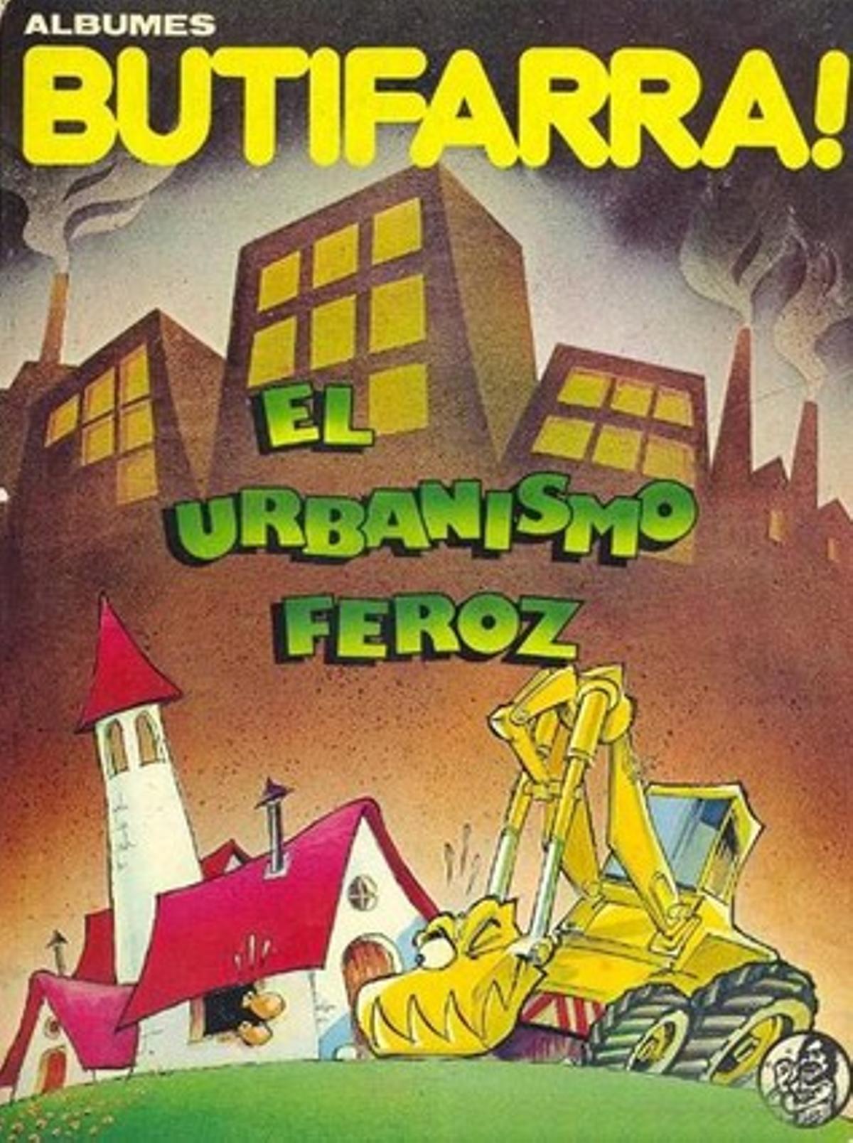 Portada de Rafel Vaquer, del álbum sobre el urbanismo, de 1979.