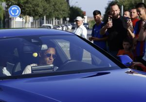 Neymar, este miércoles, a su llegada a Sant Joan Despí.
