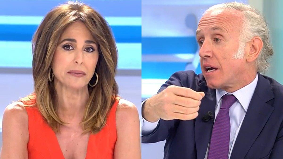 """Ana Terradillos frena a Eduardo Inda por su ataque a Pablo Iglesias: """"No voy a consentir insultos"""""""
