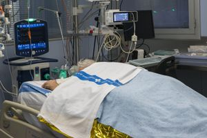 Una uci del Hospital Josep Trueta de Girona.