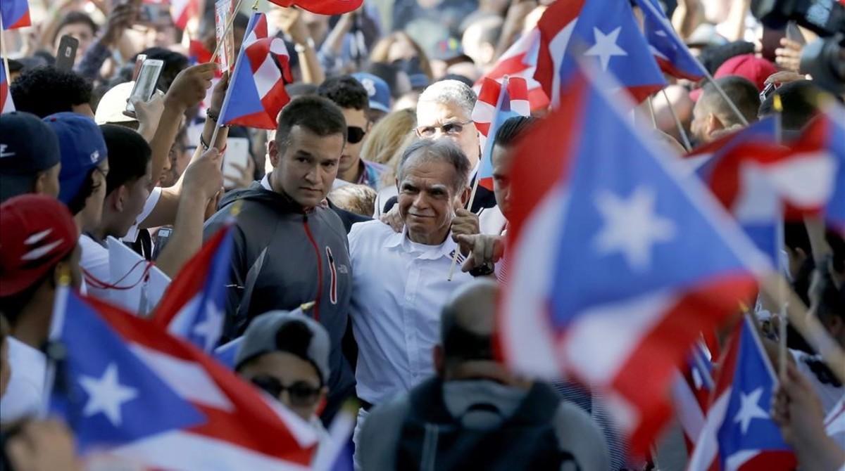 El nacionalista puertorriqueño Óscar López Rivera.