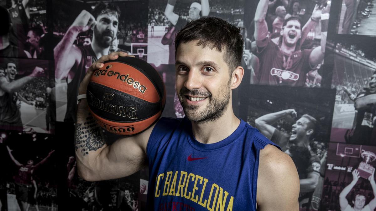 Laprovittola posa en las instalaciones del Barça en el encuentro con El Periódico