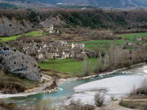 Vista de Jánovas, en el Prepirineo de Huesca.