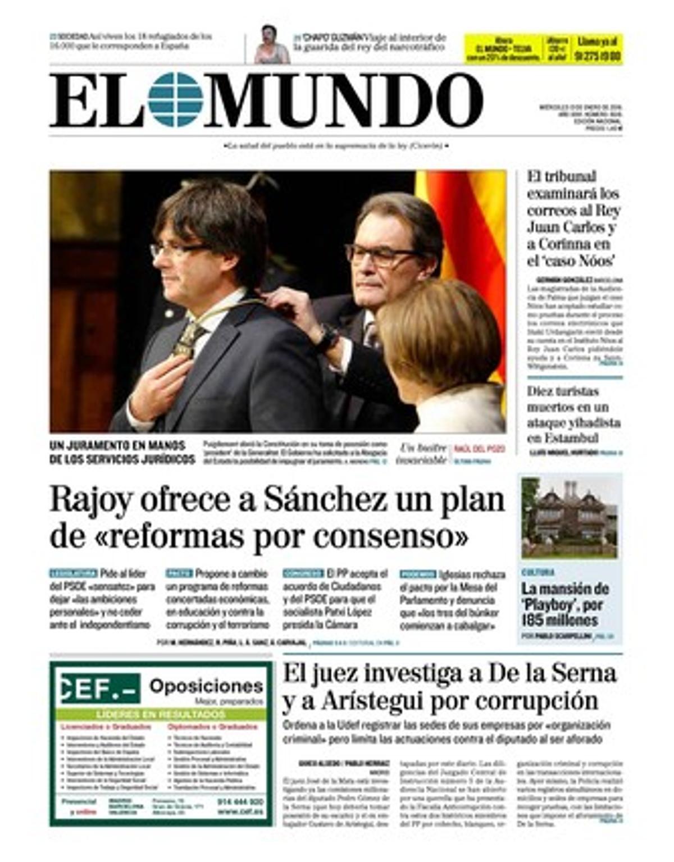 De Puigdemont, Felipe VI y el primer acuerdo de legislatura entre PP, PSOE y C's