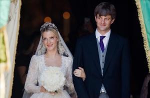 Ekaterina Malysheva y Ernesto Augusto de Hannover, tras la ceremonia religiosa.