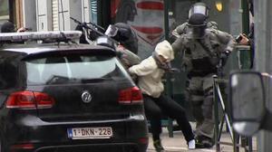 La detención de Salah Abdeslam el pasado 18 de marzo en el barrio de Molenbeek, en Bruselas.