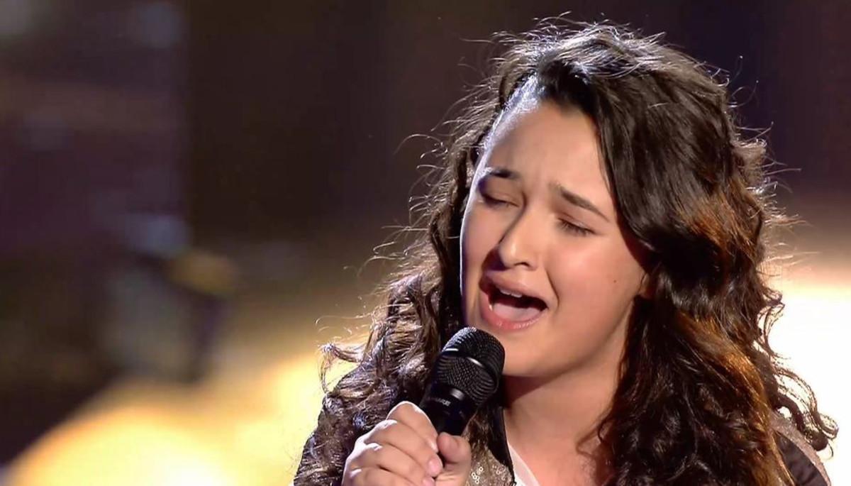 Rocío, la ganadora de 'La voz kids 3'.
