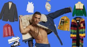 Americana, pantalón de chándal y mocasines: así es el armario del cantante.