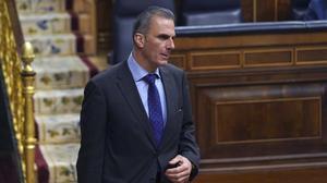 Javier Ortega Smith, el pasado febrero en el Congreso.