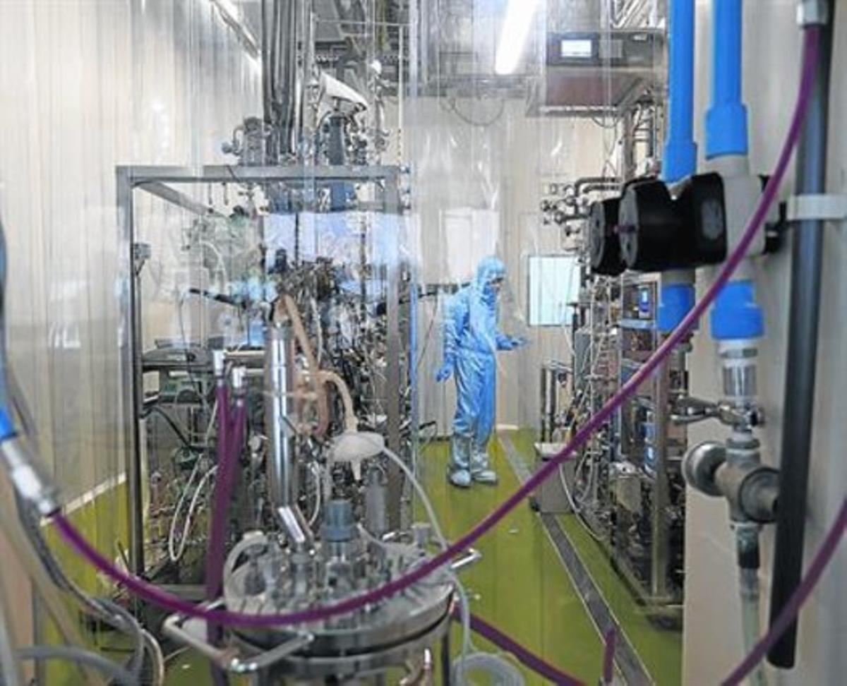 Reactores de nitrificación de Melissa, planta experimental de la Agencia Espacial Europea (ESA) en la UAB.