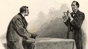 Una ilustración de las aventuras originales de Sherlock Holmes.