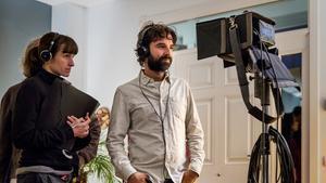 Mateo Gil en un momento del rodaje de 'Proyecto Lázaro'.