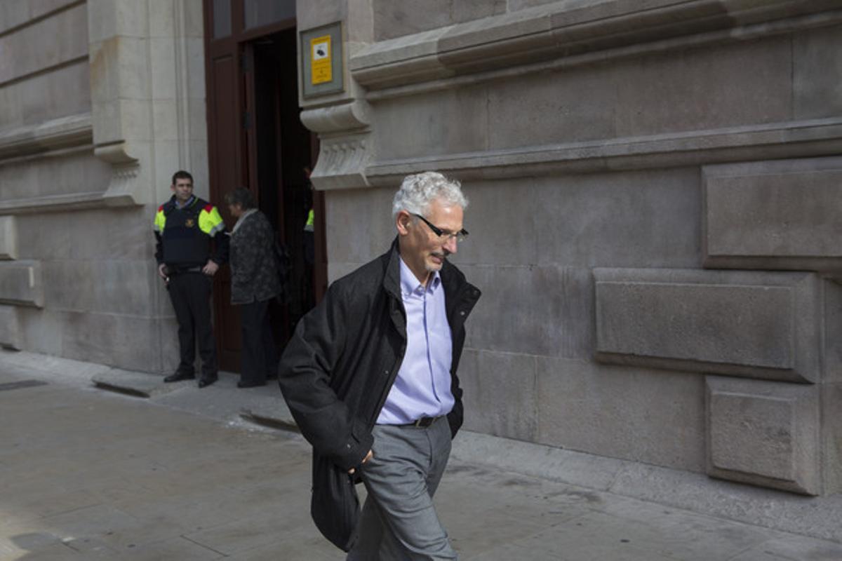 El juez Santiago Vidal, este jueves, en Barcelona.