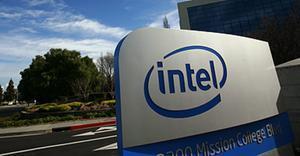 Entrada de Intel Corporation, en Santa Clara.