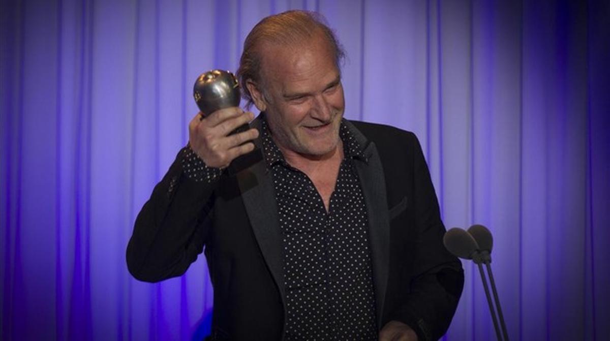 Lluís Homar, en la entrega de los premios Max de teatro.