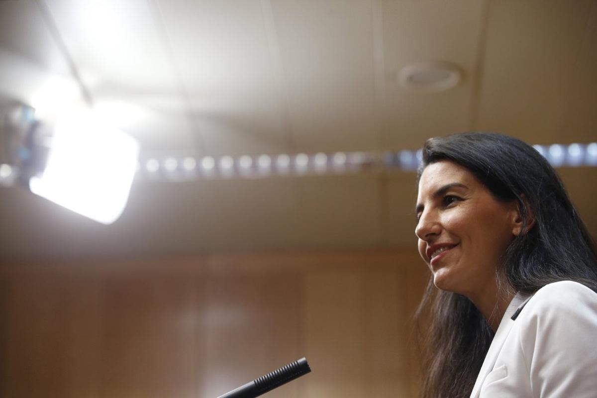 La portavoz de Vox en la Comunidad de Madrid, Rocío Monasterio.