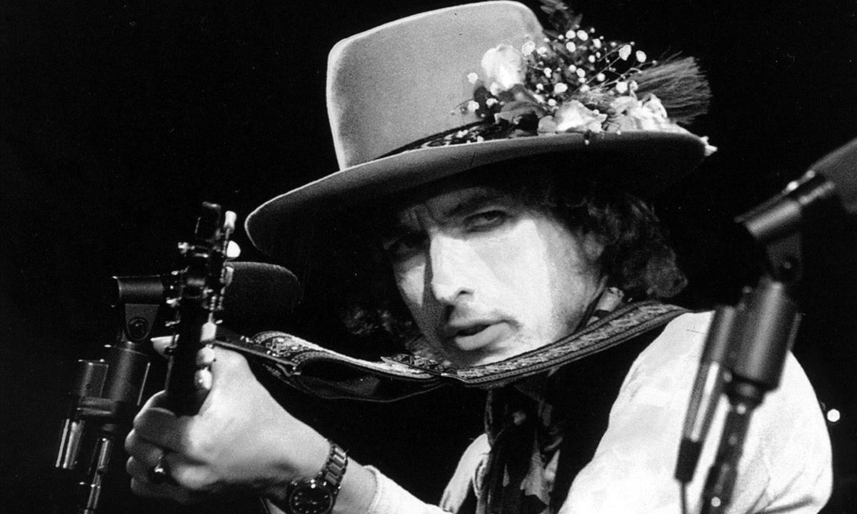 Bob Dylan, en una actuación de la gira 'Rolling Thunder Revue'.