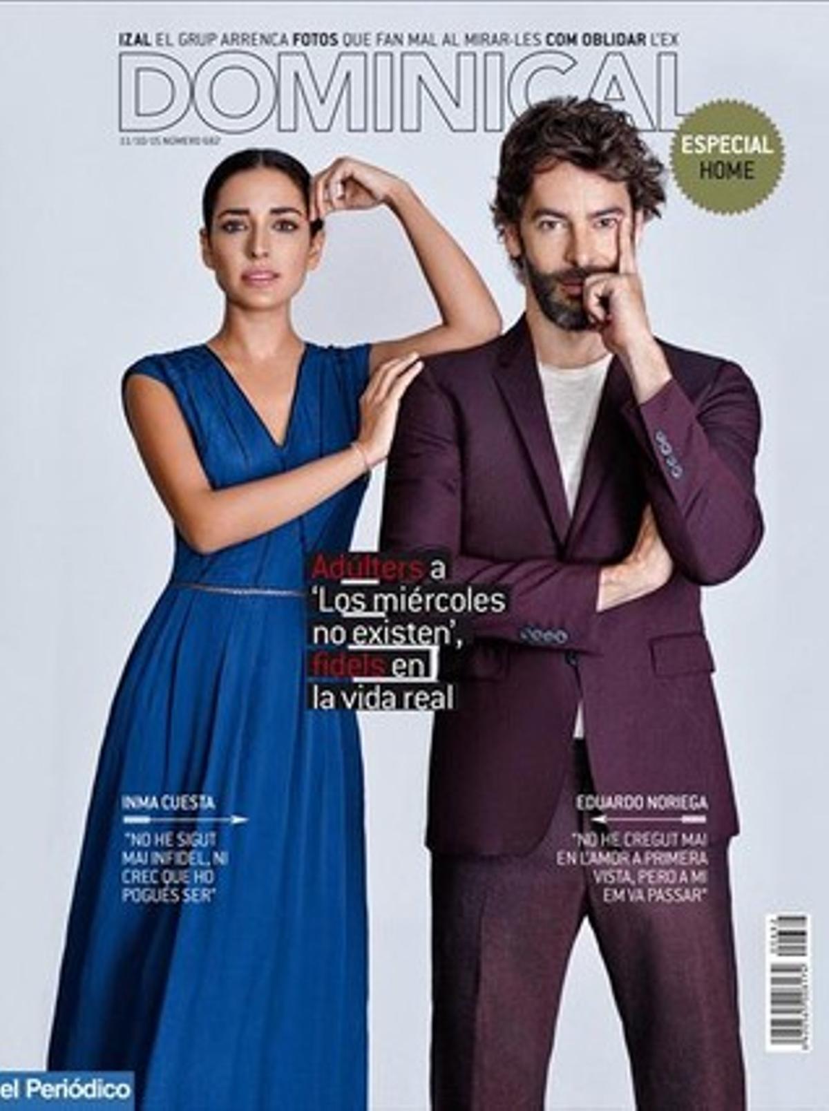 Eduardo Noriega e Inma Cuesta, en la portada de 'Dominical'. Foto: Vicente Merino.