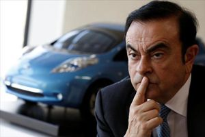 Carlos Ghosn en una conferencia de prensa en Japón el pasado 23 de febrero.