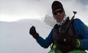 Òscar Cadiach, en la expedición al Broad Peak del 2016.