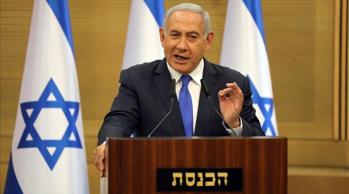 El primer ministro israelí,Benjamin Netanyahu, en una rueda de prensa.