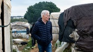 Visita del relator de la ONU sobre la pobreza extrema, Philip Alston, a Lepe.