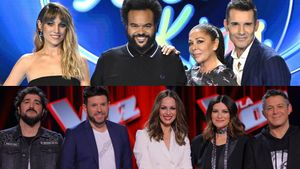 Los jurados y presentadores de 'Idol Kids' (Telecinco) y 'La voz' (Antena 3).