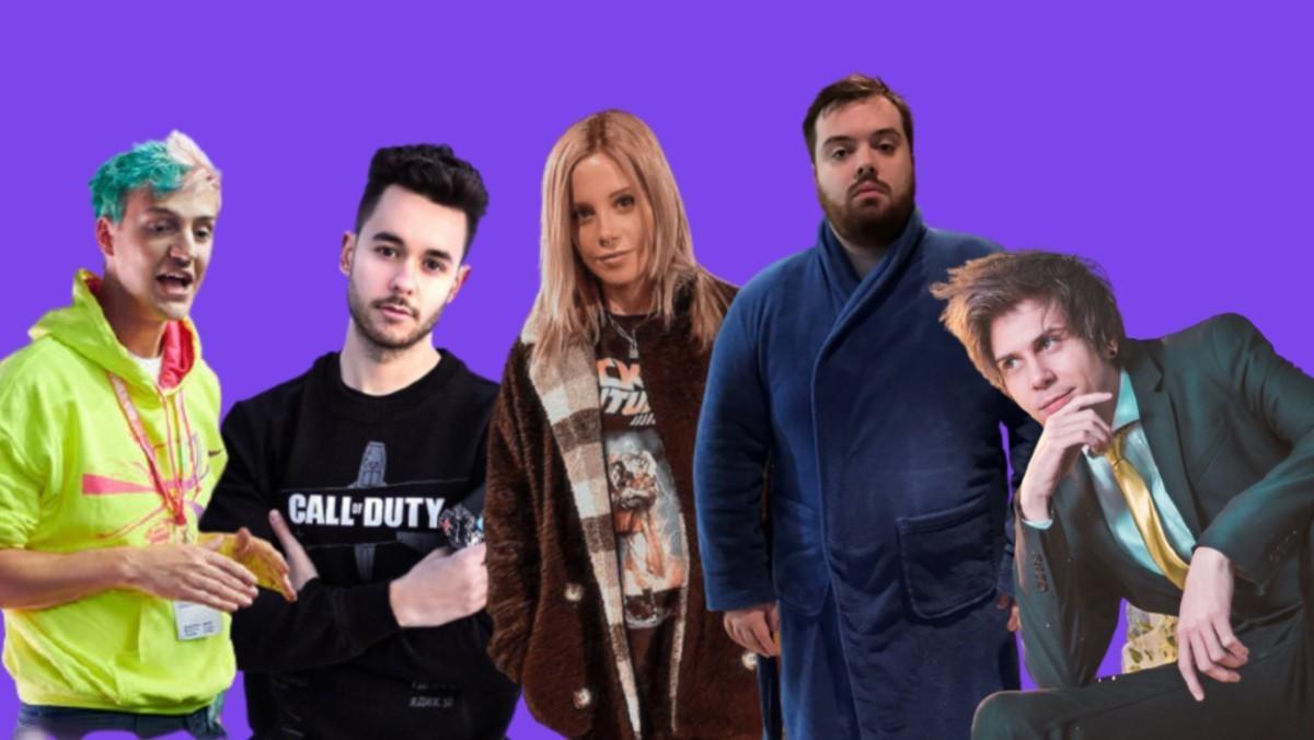 De izquierda a derecha, Ninja, The Grefg, Biyín, Ibai y ElRubius.