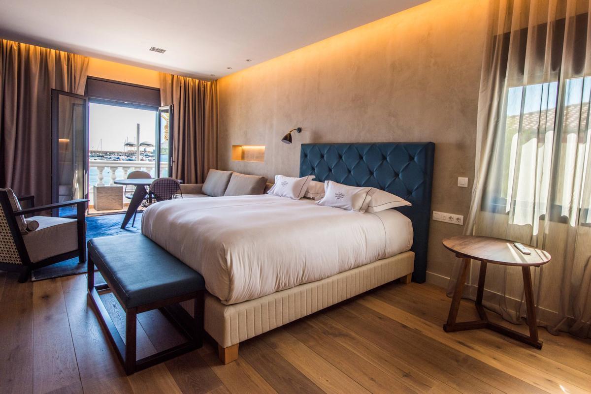 Imagen de una de las habitaciones del Hotel Miramar, en Barcelona.