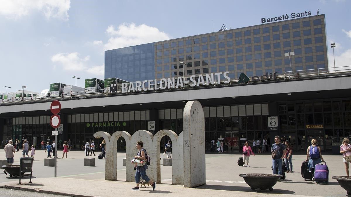 La ampliación de la estación de Sants prevé la mejora de la plaza de los Països Catalans.