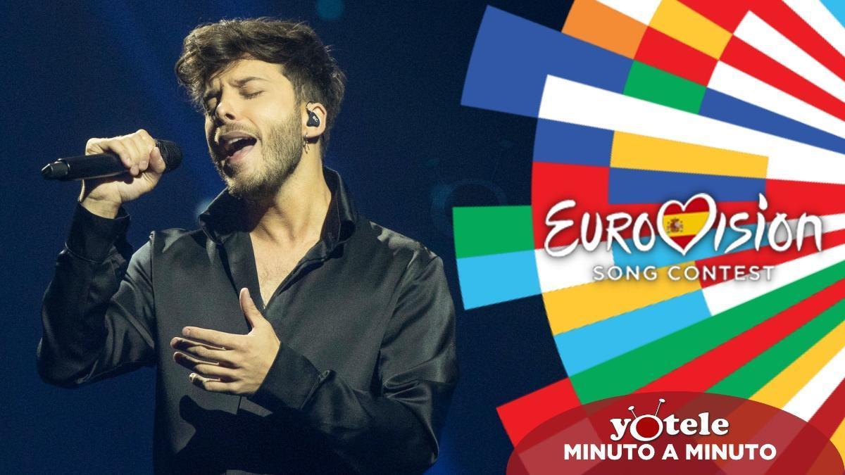Blas Cantó en su segundo ensayo sobre el escenario de Eurovisión 2021