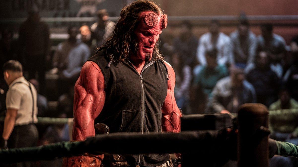 David Harbour, en un fotograma de 'Hellboy'